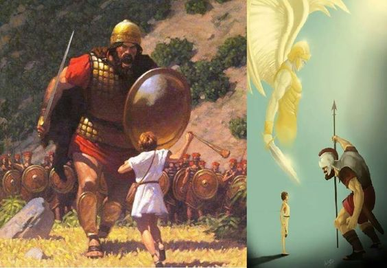 literary analysis of david and goliath Faith quest david and goliath workshop leaders' bible study 16:1 through 2 samuel 5:10 is often referred to as the rise of david and is thought of as one of the several literary units that were put together to form the books of samuel.