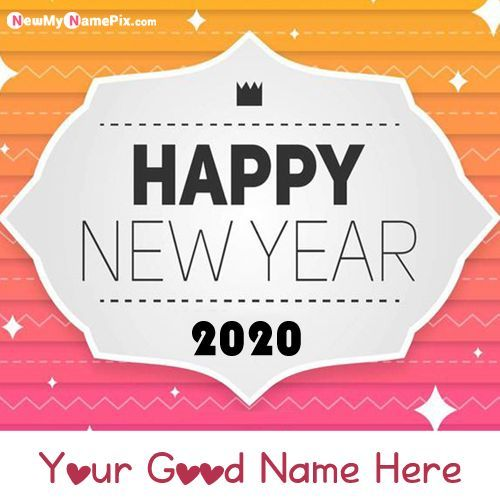 Special Parson Name Writing New Year Pic Sending Free Create