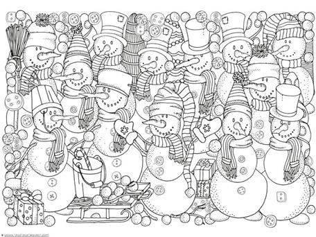 winter doodle coloring pages coloring snowman and doodles