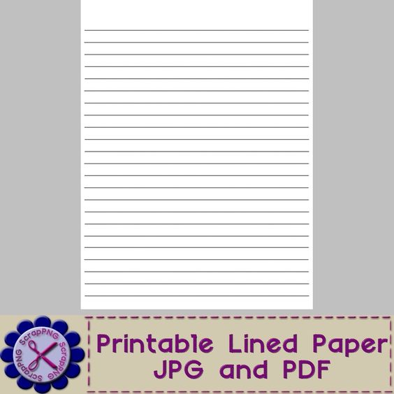 Blank Lined Paper Template - Printable Jpg And Pdf - It'S Free