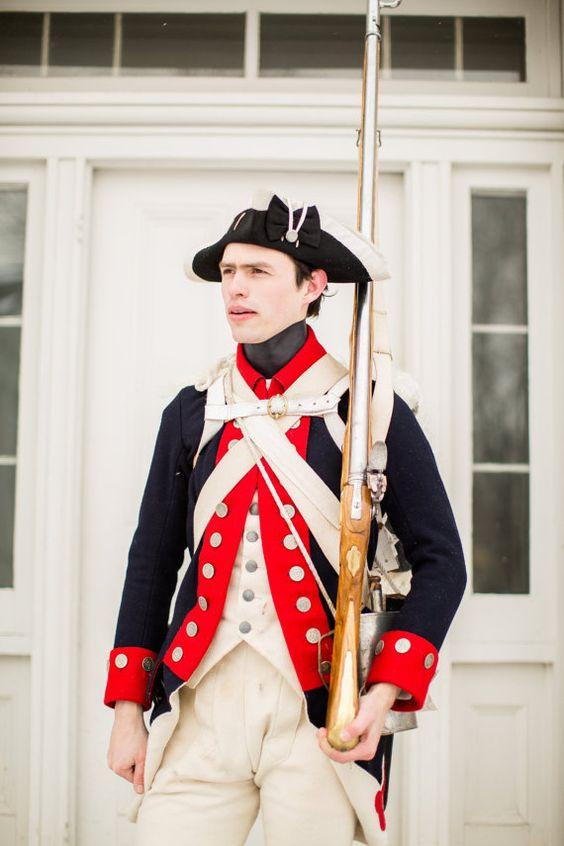 Colonial Line Uniform coat 1770s unlaced 18th century uniform
