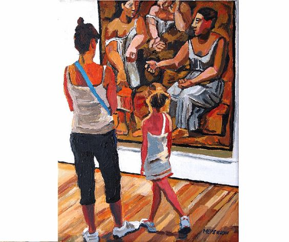 Museum of Modern Art Fine Art Print 8x10, NYC MOMA Mother and Daughter Looking At Pablo Picasso, Painting by Gwen Meyerson by GwenMeyerson on Etsy https://www.etsy.com/listing/128105627/museum-of-modern-art-fine-art-print-8x10