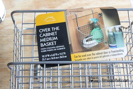 DIY Locker Basket Mail Organizer | Bless'er House - Great way to free up counter space!