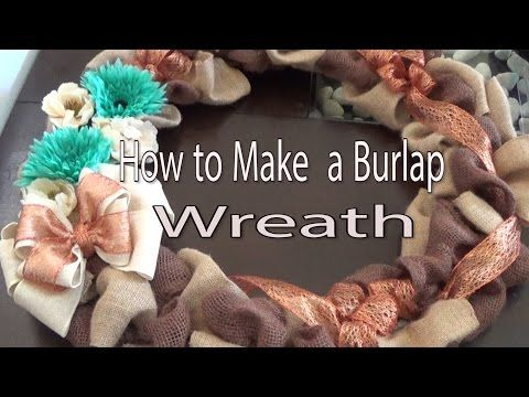 How to make a cute Burlap Wreath with two colors (or three). Autumn DIY decoration! - YouTube