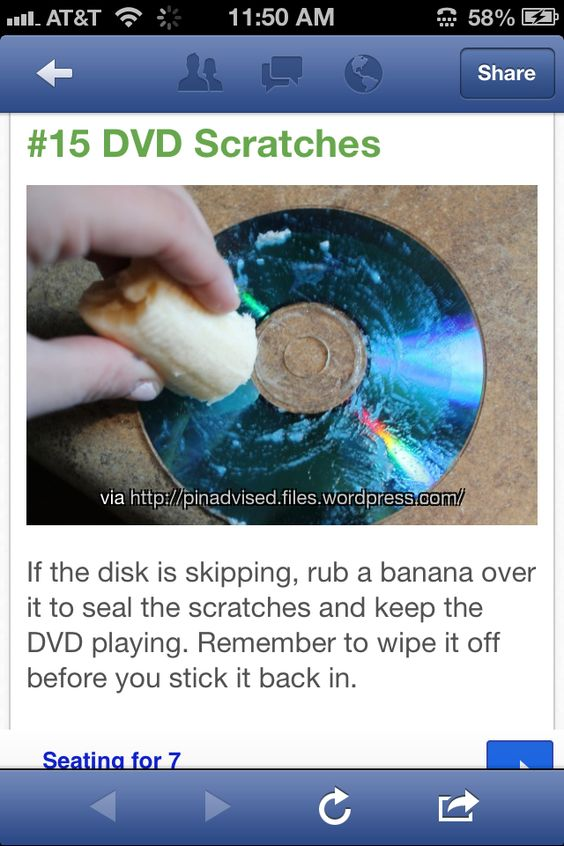 Fix scratches on DVDs, no more skipping!