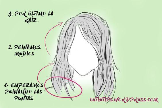 Peinarse de puntas a medios y subir hasta la raíz para evitar rotura y pérdida de cabello innecesariamente   Más tips de cabello en mi blog! :)    #Tips #Belleza #Beauty #Hacks #blog #blogger #hair