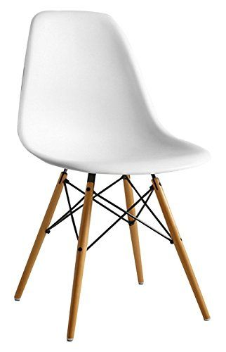 Joolihome Eiffel Dining Chair Plastic Wood Retro White Modern
