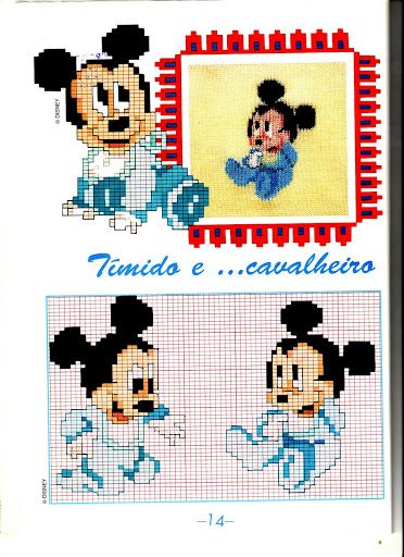Baby disney topolino tutina punto croce for Schemi gratis punto croce disney