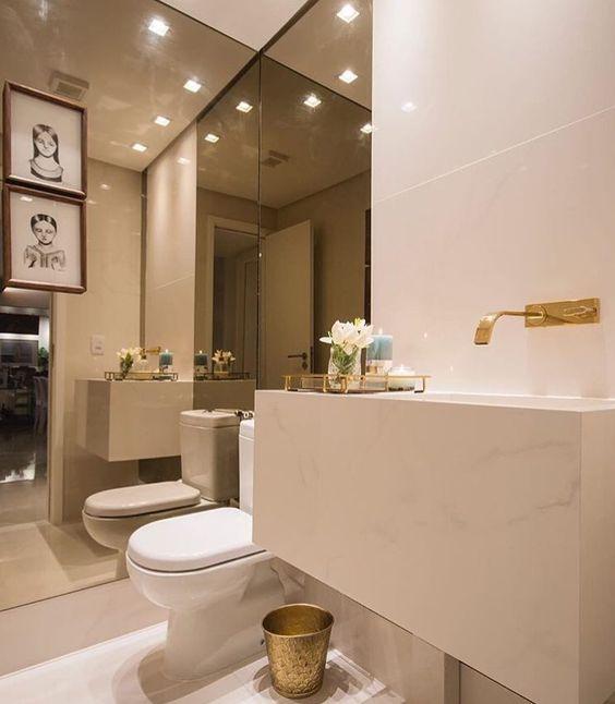 Bons sonhos com este pequeno notável! Amando o mix do espelho bronze com detalhes no  dourado.  @pontodecor  Projeto @fabricaarquitetura Snap:  hi.homeidea  http://ift.tt/23aANCi #bloghomeidea #olioliteam #arquitetura #ambiente #archdecor #archdesign #hi #cozinha #kitchen #arquiteturadeinteriores #home #homedecor #pontodecor #lovedecor #homedesign #instadecor #interiordesign #designdecor #decordesign #decoracao #decoration #love #instagood #decoracaodeinteriores #lovedecor #architecture…