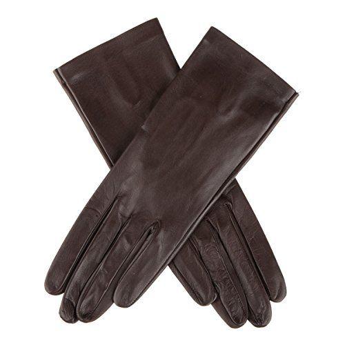 Lederhandschuhe Gefütterte Damen Handschuhe echtes Leder Schwarz  M,L,XL