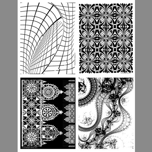 Reduced Patterns 2 clear polymer stamp by The Backporch Artessa at artisticartifacts.com