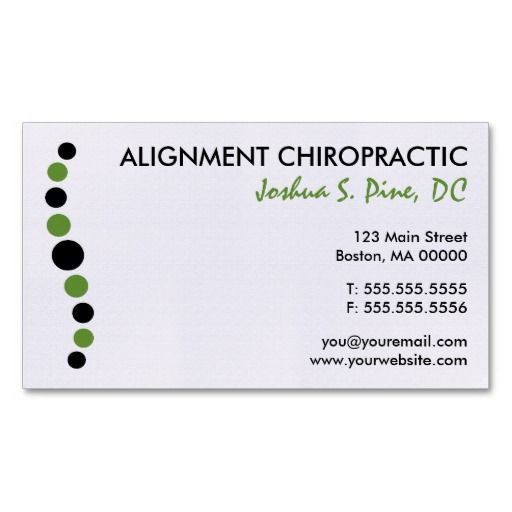 Modern Dots Chiropractic Business Card Sample business cards - business card template for doctors