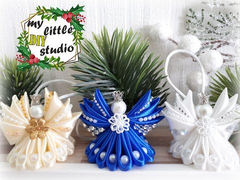 Aniolki Na Choinke Ze Wstazki Satynowej Diy Youtube Christmas Crafts Christmas Ornaments Ribbon Crafts