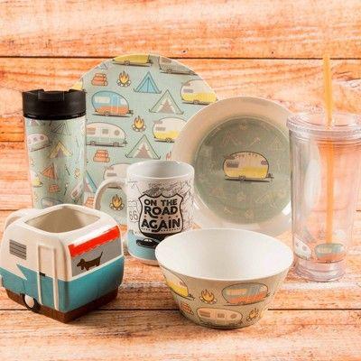 Zak Designs Melamine Retro Camper Bowl