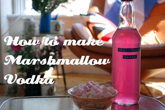 How to make MARSHMALLOW VODKA - great for summer barbecues and cocktails and general mixers. Simple recipe and even great for gifts.