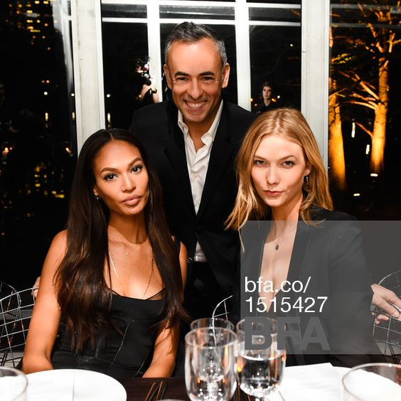 Joan Smalls, (wearing Calvin Klein Collection), Francisco Costa, Karlie Kloss, (wearing Calvin Klein Collection) at CALVIN KLEIN Collection Celebrates the Unveiling of Creative Time's Drifting in Daylight: Art in Central Park. #BFAnyc