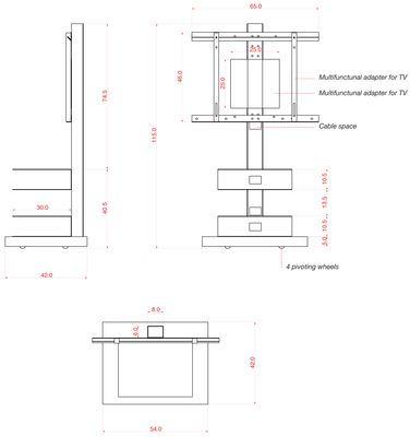 Ptolomeo TV Möbel Für Fernsehbildschirme von 20 bis 42 Zoll - Opinion Ciatti