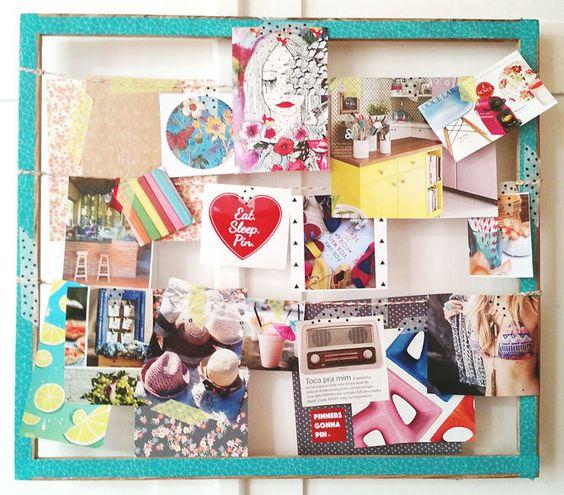 Como criar um mood board ou painel de inspirações com recortes de revista e recordações.
