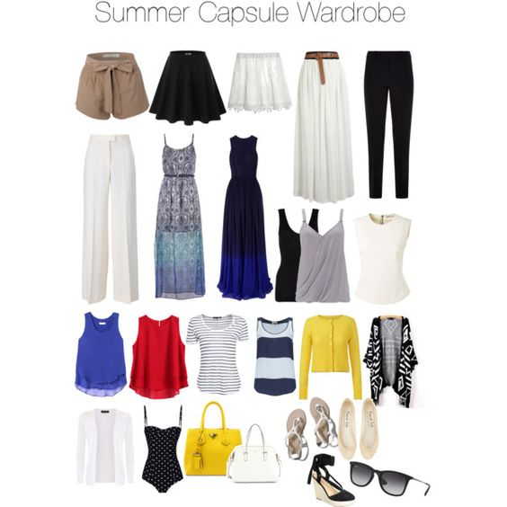 Summer Capsule Wardrobe by lauren-elizabeth-atterbery on Polyvore featuring polyvore, fashion, style, Matthew Williamson, maurices, Bouchra Jarrar, Orla Kiely, Rebecca Taylor, rag & bone, Twist & Tango, Hanro, Wallis, STELLA McCARTNEY, Dolce&Gabbana, Armani Collezioni, Calypso St. Barth, Doublju, Abercrombie & Fitch, Kate Spade and Ray-Ban