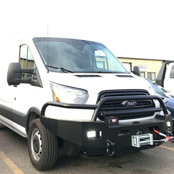 Vanlifecustoms Install Of Aluminess Front Winch Bumper On This Ford Transit Ford Transit Winch Bumpers Bumpers