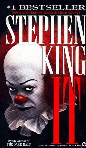 Scariest book ever!!!  I hate clowns!  It by Stephen King, http://www.amazon.com/dp/B002SR2PKG/ref=cm_sw_r_pi_dp_cxfRpb0PGN864