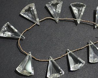 AAA cut stone quality  Rock Crystal Trillion fancy Faceted 13x18 to 19x14 mm Approx. , 9 pc