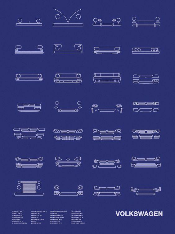 Auto Icon Screen Print Series: Volkswagen – NOMO Design