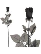 Black Fabric Rose - Party City
