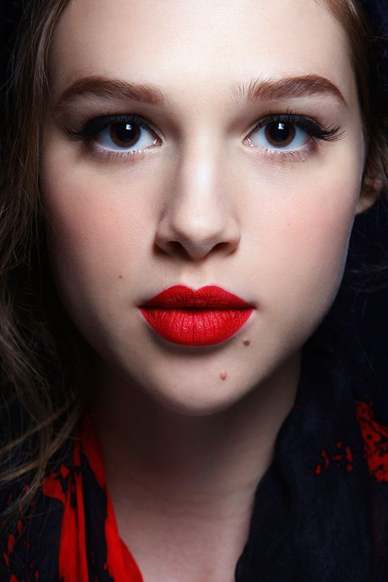 Is red lipstick ok for a daytime event?