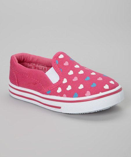 Peach Heart Slip-On Sneaker