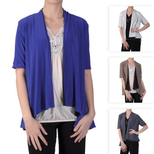 $24.99 nice Brinley Co Womens Stretchy Open Front Reversible Cardigan