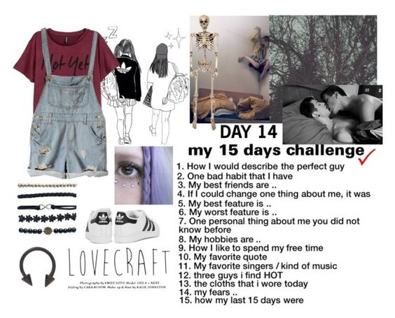 """""""My 15 days challenge - 14. Fears"""" by dracul-278 ❤ liked on Polyvore featuring Wet Seal and adidas Originals"""