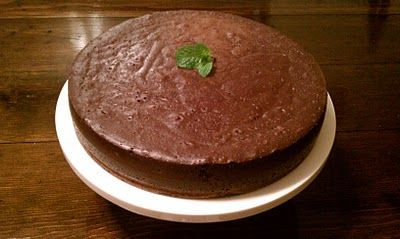 """Flourless Chocolate Cake --  Very dense, rich cake.  Similar to a cheesecake.  From the original pinner, """"Paleo or not...this is the best chocolate dessert I've ever had.  Ever."""""""