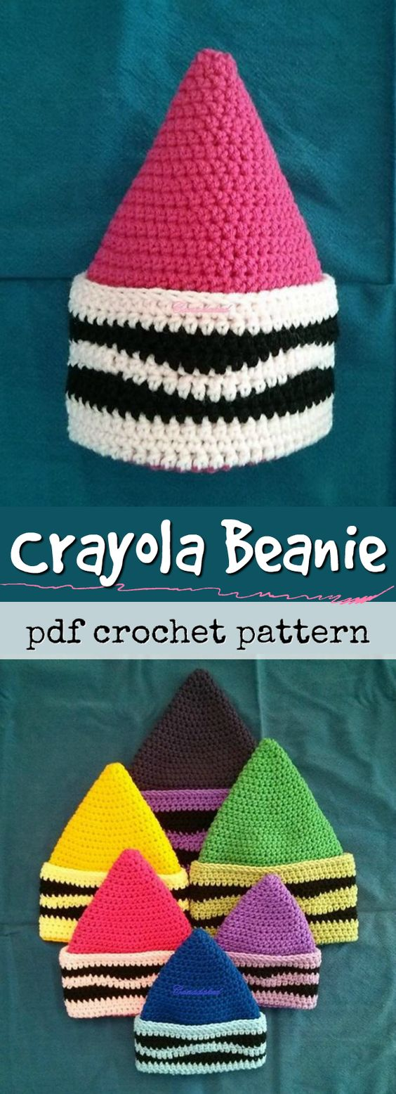 Eeek! What a fun toque crochet pattern! I love it! Perfect fun pattern for kids! Would make a great addition to an easy halloween costume! #lovecrochet #ad