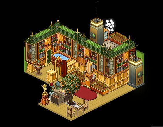 Habbo School Room Cafeteria Ideas