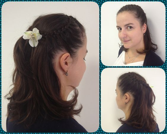 Hairstyle with little flower)