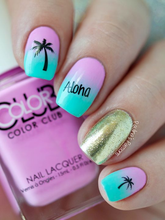 Beachy Nails I Feel Pretty Oh So Pinterest Makeup Nail And Hawaii