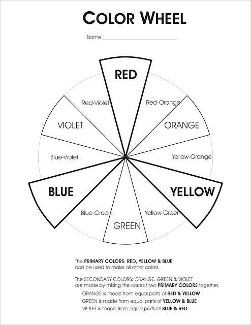 color wheel worksheet art classes pinterest color wheels elements of art and color wheel. Black Bedroom Furniture Sets. Home Design Ideas