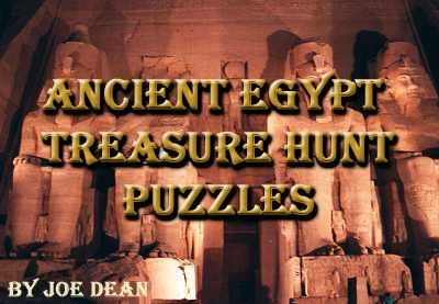 Egypt Treasure Hunt Puzzles - a great treasure hunt for an Indiana Jones theme party