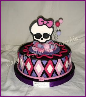 TORTA DECORADA DE MONSTER HIGH (VERSION II) | TORTAS CAKES BY MONICA FRACCHIA: Cumple Monster, Mis Tortas, Cake Decorada, Ii Tortas, Decorated, Monster High Tortas
