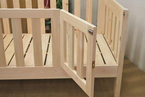 子供用オーダーベッド 柵高さ50cm 扉付き ベッド 扉 赤ちゃん