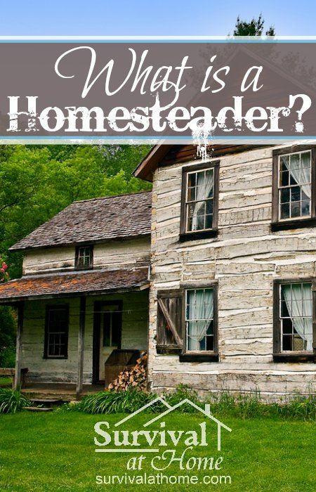 What is a Homesteader? » Lots of people think you have to have farm animals, 40 acres or a big ol' tractor to be a homesteader, but that's not always true. So what is a homesteader? #homestead #youmightbe