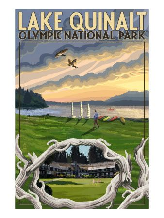 Olympic National Park, Washington - Lake Quinalt