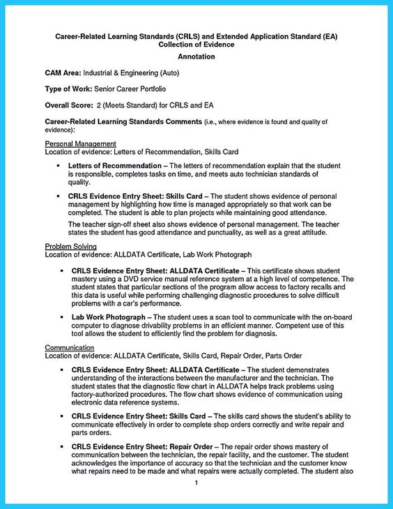 awesome Writing Your Great Automotive Technician Resume, resume - student sign in sheet