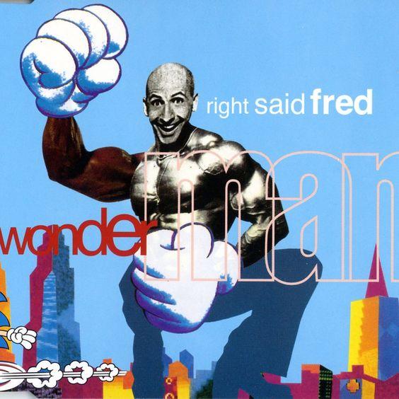 Right Said Fred – Wonderman (single cover art)