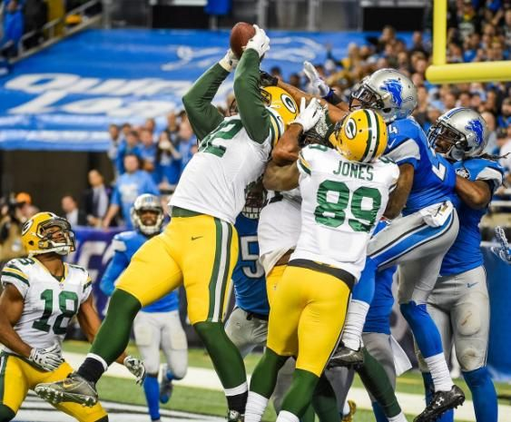 NFL Jerseys Official - Packers beat the Lions 27-23 on a 61-yd Hail Mary to Richard ...