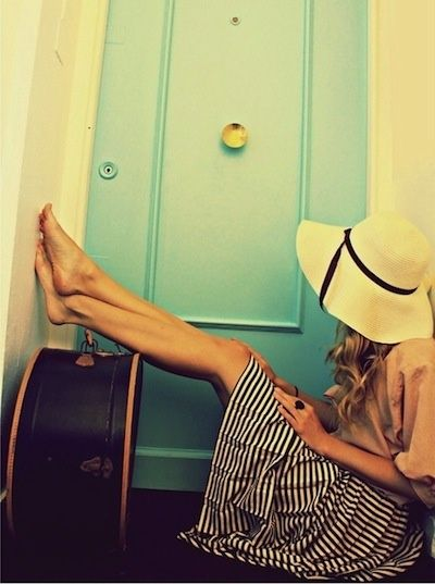 Ready to head out the door.: Travel Friendly, Stripes Nautical, The Doors, Travelin Style, Bag, The Dress, Has