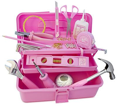 The Pink Toolbox. I've always wanted one!