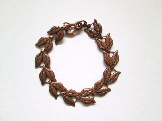 Solid Copper Bracelet Leaf Chain Design 8 Inch Size by MrsDinkerson on Etsy https://www.etsy.com/listing/197154419/solid-copper-bracelet-leaf-chain-design