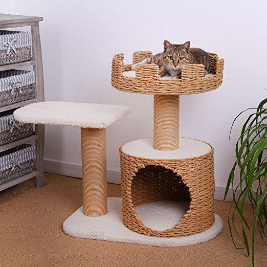 Amazon Com Petpals 2 Level Crown Top Style Cat Playhouse Cat Houses And Condos Pet Supplies Cat Tree Cat Furniture Cat Condo